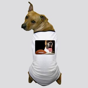 Boxer with football Dog T-Shirt