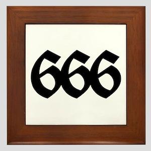 666 Framed Tile