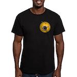 Helicopter Flying Avia Men's Fitted T-Shirt (dark)