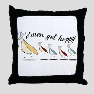 Get Hoppy Partridge Throw Pillow