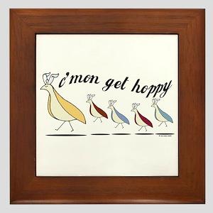 Get Hoppy Partridge Framed Tile