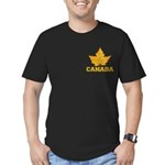 Canada Souvenir Varsit Men's Fitted T-Shirt (dark)