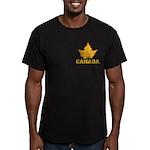 Canada Souvenir Varsit Men's Fitted T-Shirt (dark)
