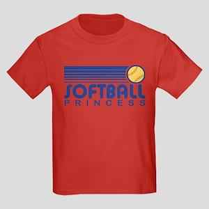 Softball Princess Kids Dark T-Shirt