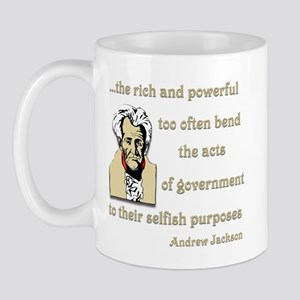 Andrew Jackson on the rich and powerful Mug