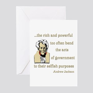 Andrew Jackson on the rich and powerful Greeting C