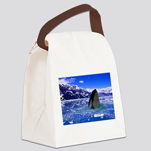 The Orca Whale In The Arctic Canvas Lunch Bag