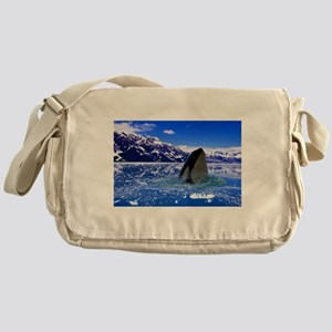 The Orca Whale In The Arctic Messenger Bag