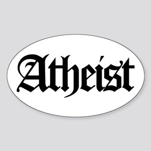 Official Atheist Oval Sticker