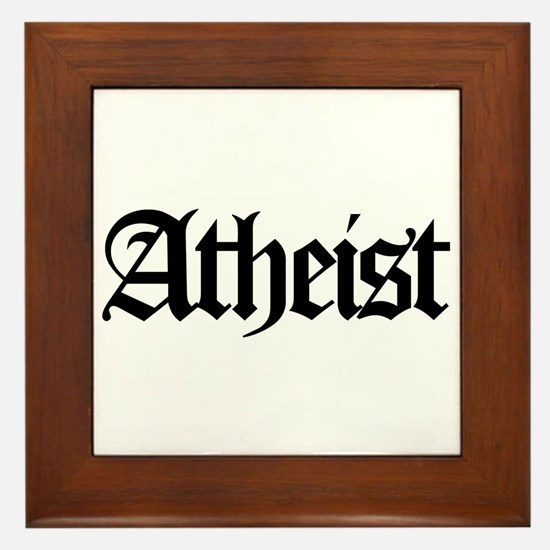 Official Atheist Framed Tile