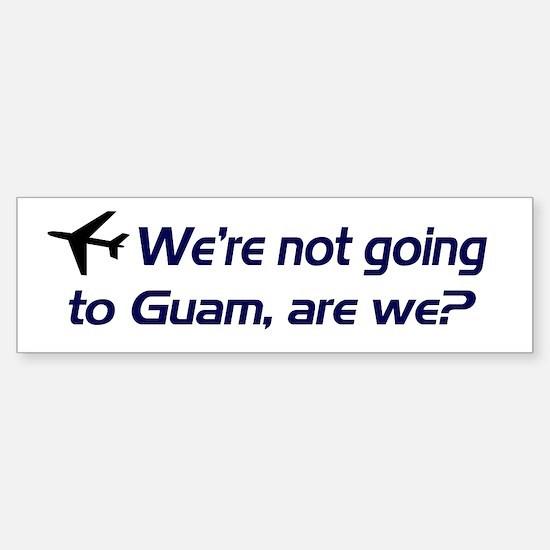 Not Guam Bumper Car Car Sticker