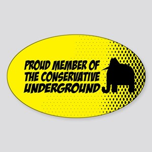 Proud member of the Conservat Oval Sticker