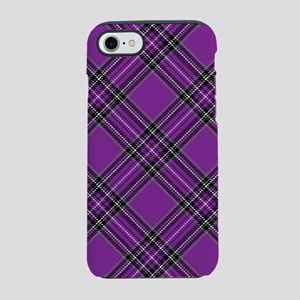 Purple Plaid Pattern iPhone 7 Tough Case