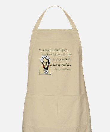 Andrew Jackson on the law BBQ Apron