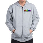 3D Rainbow Puzzle Zip Hoodie