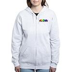 3D Rainbow Puzzle Women's Zip Hoodie