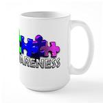3D Rainbow Puzzle Large Mug