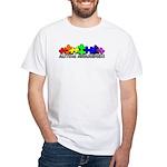 3D Rainbow Puzzle White T-Shirt