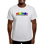 3D Rainbow Puzzle Light T-Shirt