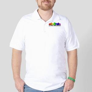 3D Rainbow Puzzle Golf Shirt