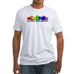 3D Rainbow Puzzle Fitted T-Shirt