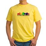 3D Rainbow Puzzle Yellow T-Shirt