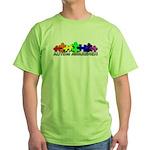 3D Rainbow Puzzle Green T-Shirt