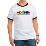 3D Rainbow Puzzle Ringer T