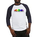 3D Rainbow Puzzle Baseball Jersey