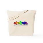 3D Rainbow Puzzle Tote Bag