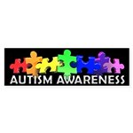 3D Rainbow Puzzle Bumper Sticker (50 pk)