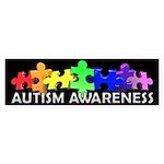 3D Rainbow Puzzle Bumper Sticker (10 pk)