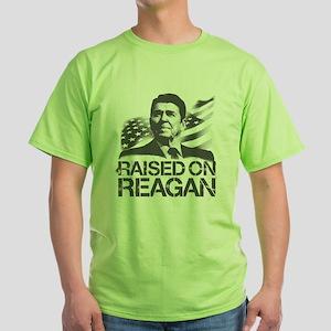 Raised on Reagan Green T-Shirt