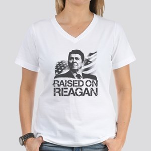 Raised on Reagan Women's V-Neck T-Shirt