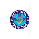 Masonic Pride Rectangle Sticker