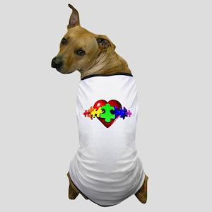 3D Heart Puzzle Dog T-Shirt