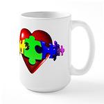 3D Heart Puzzle Large Mug