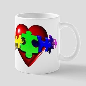 3D Heart Puzzle Mug