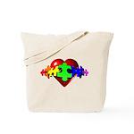 3D Heart Puzzle Tote Bag