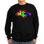 3D Heart Puzzle Sweatshirt (dark)