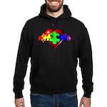 3D Heart Puzzle Hoodie (dark)