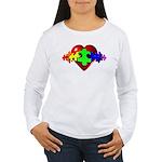 3D Heart Puzzle Women's Long Sleeve T-Shirt