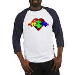 3D Heart Puzzle Baseball Jersey