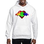 3D Heart Puzzle Hooded Sweatshirt