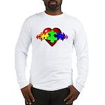3D Heart Puzzle Long Sleeve T-Shirt