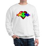 3D Heart Puzzle Sweatshirt