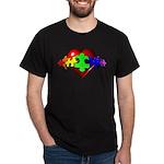 3D Heart Puzzle Dark T-Shirt