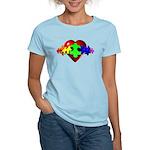 3D Heart Puzzle Women's Light T-Shirt