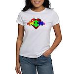 3D Heart Puzzle Women's T-Shirt