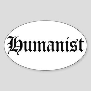 Humanist Oval Sticker